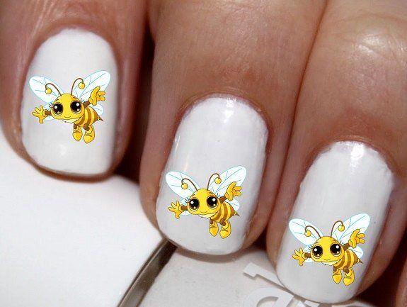 20 Pc Bumble Bee Cute Bee Honey Bee Nail Art Nail Decals Cg414na
