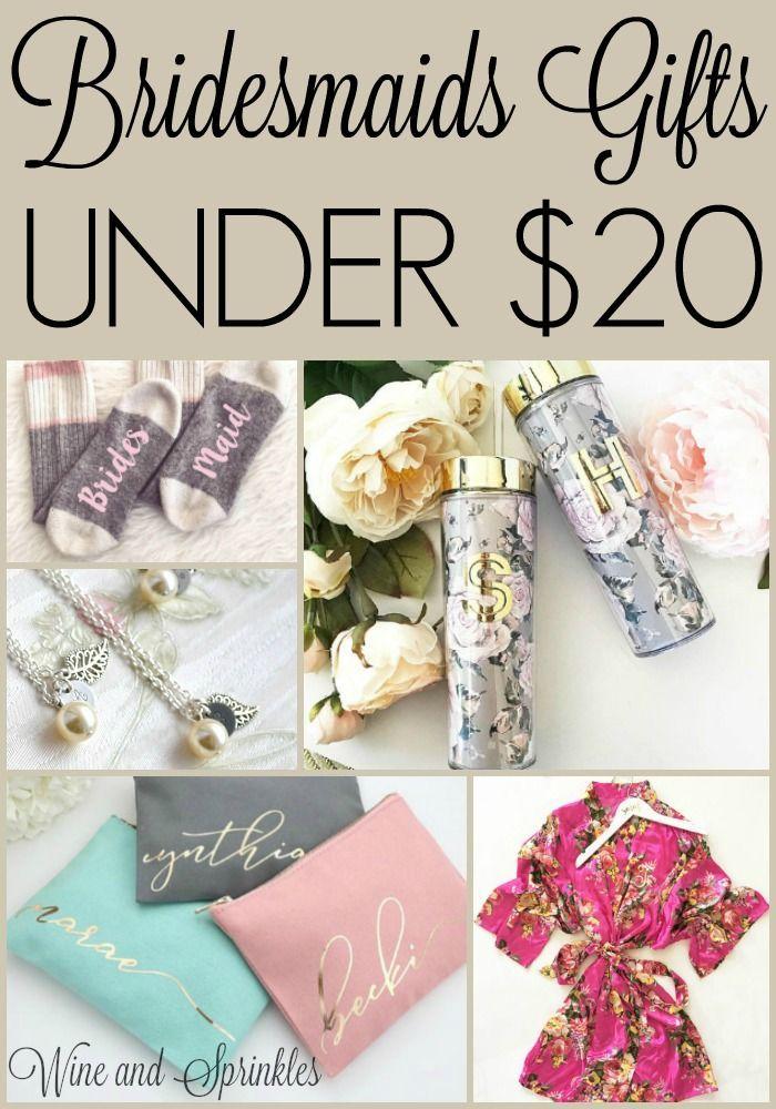 20 Bridesmaids Gifts Under 20 Beach Wedding Bridesmaid