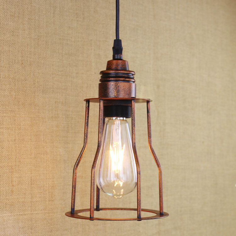 industrial vintage creative personality iron pendant light loft retro hotel restaurant decoration light free shipping