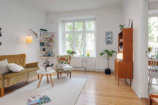 Decorando un monoambiente con muebles vintage 5