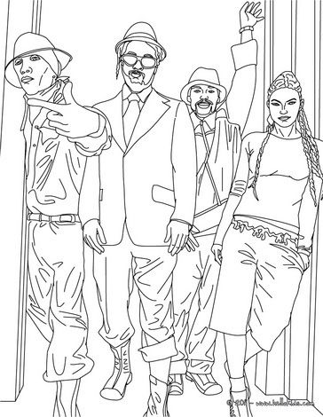 Black Eyed Peas Hip Hop Coloring Book Compiled By Jamee Schleifer