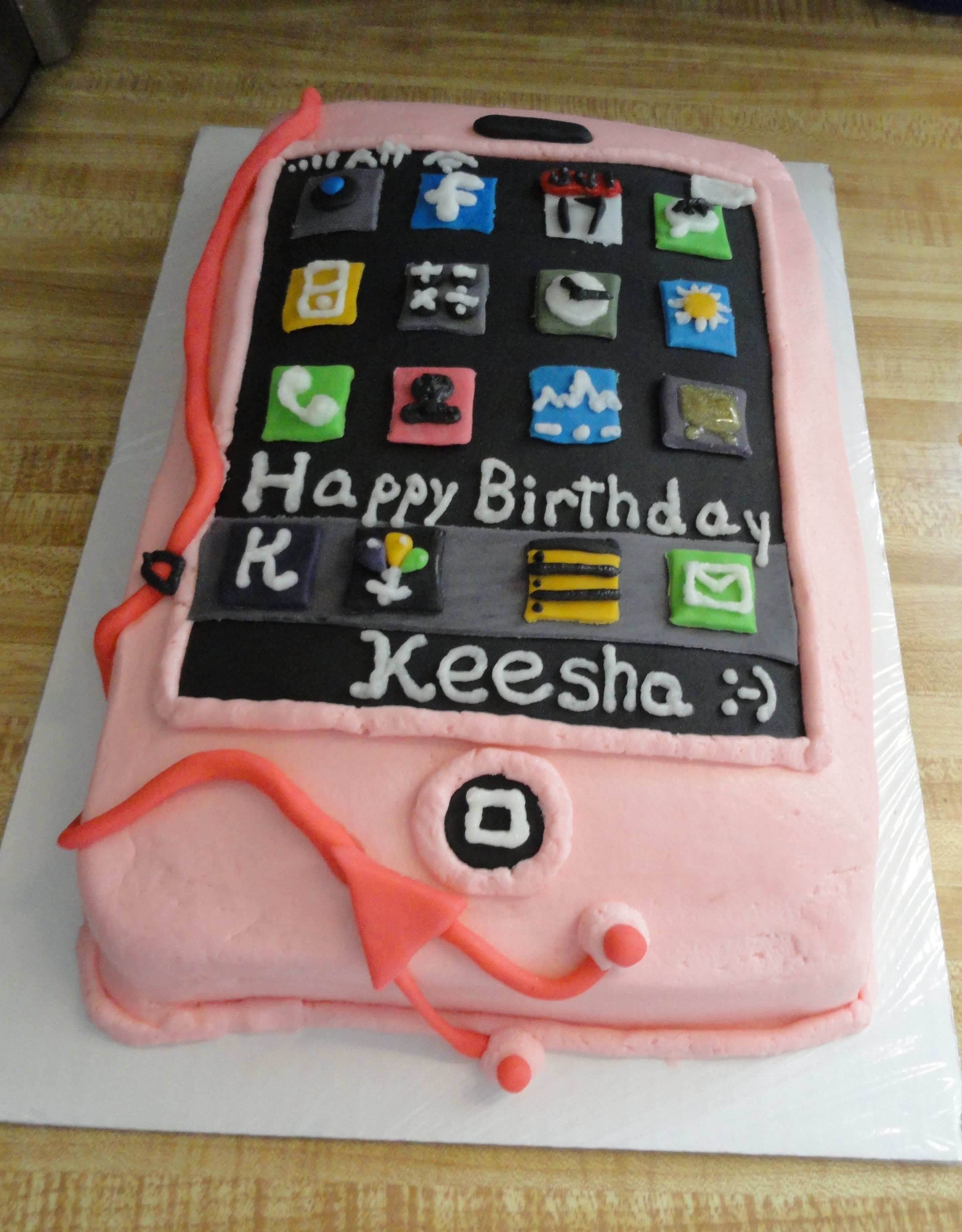 Cake ideas on pinterest pirate cakes marshmallow fondant and - Cell Phone Cake Ideas White Chocolate Cake With Ganache Covered Marshmallow