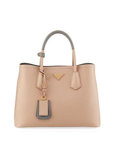 125917aa094c V3US9 Prada Saffiano Cuir Small Double Bag