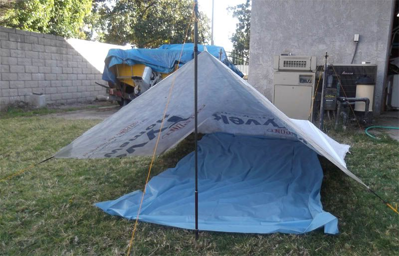 how to make a big tent out of tarp
