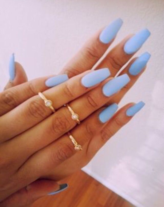 Pastel #summer nails and midi #rings . Perfect to flaunt that #tan ...