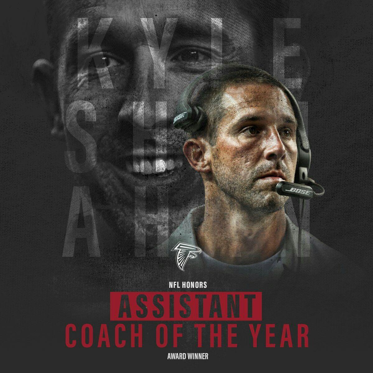 Kyle Shanahan Named 2016 Assistant Coach Of The Year Via Atlantafalcons On Twitter Atlanta Falcons Football Atlanta Falcons Quotes Atlanta Falcons Memes