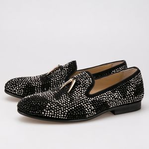 54a65b5d896 Gold tassel Black crystal Men loafers shoes • nanaloafers • Tictail