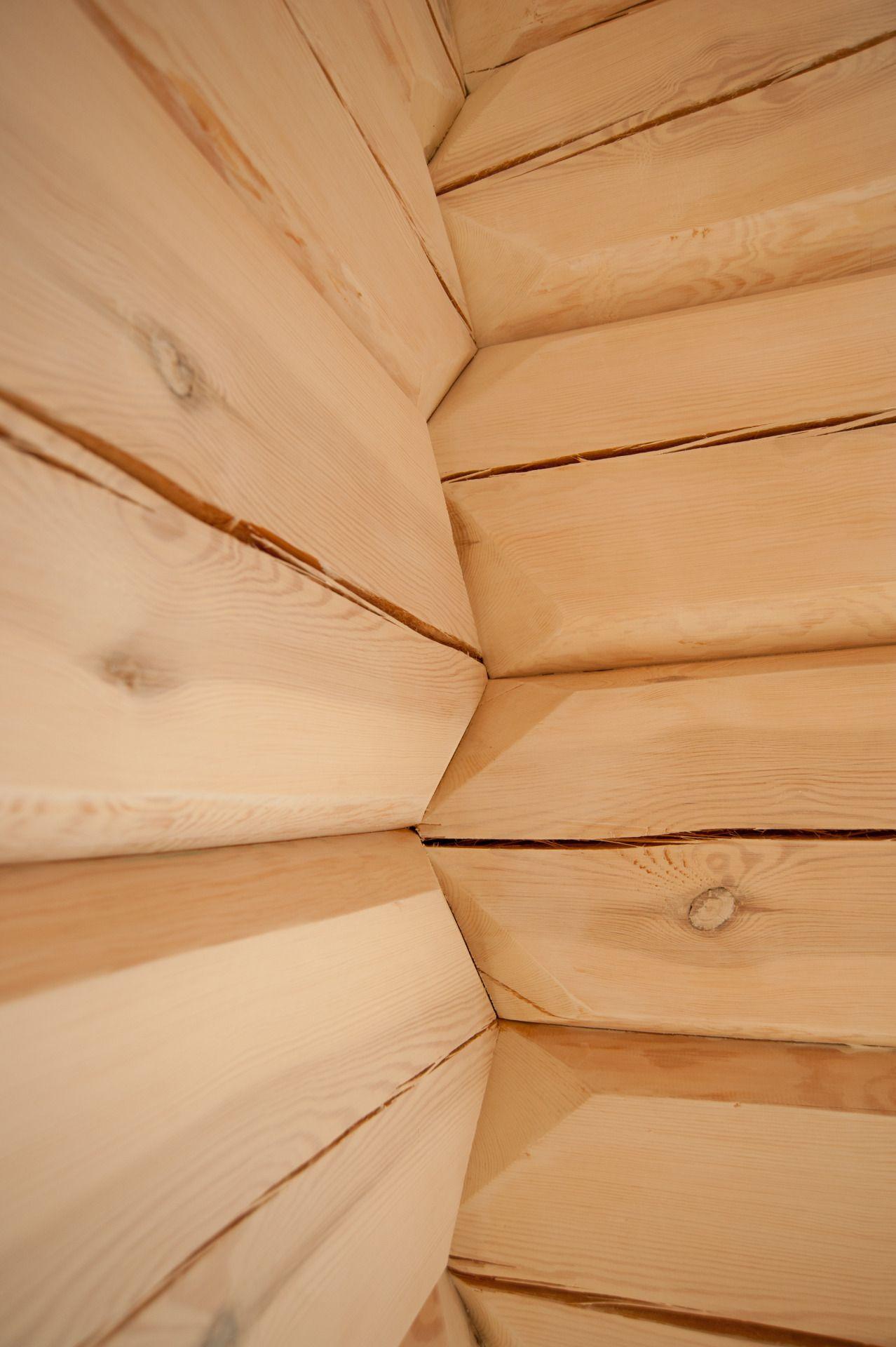 Modern log house, Scandinavian corner.