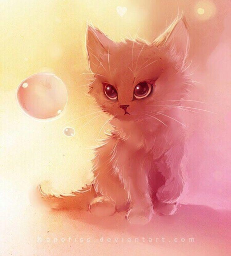 Картинки кошки рисунки красивые