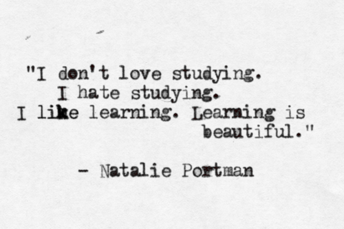 learning > studying