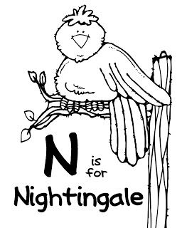 nightingale animal coloring pages. A Z Zoo Animal Coloring Pages  N pages We Love Being Moms