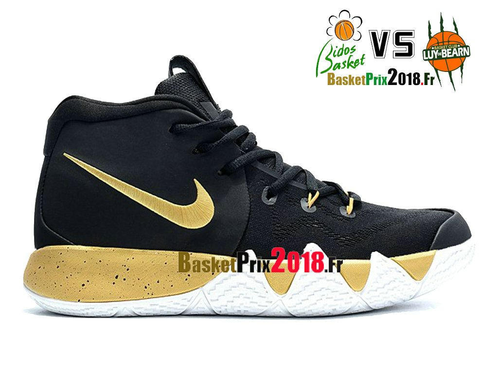 Chaussures Basket Nike Prix Pas Cher Homme Nike Basket Kyrie 4 Noir Or Blanc 1b9cc4
