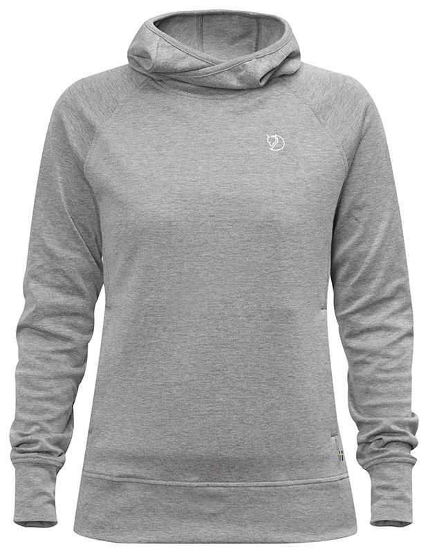 Lightweight hooded sweater in fast-drying cotton\/polyester blend ...