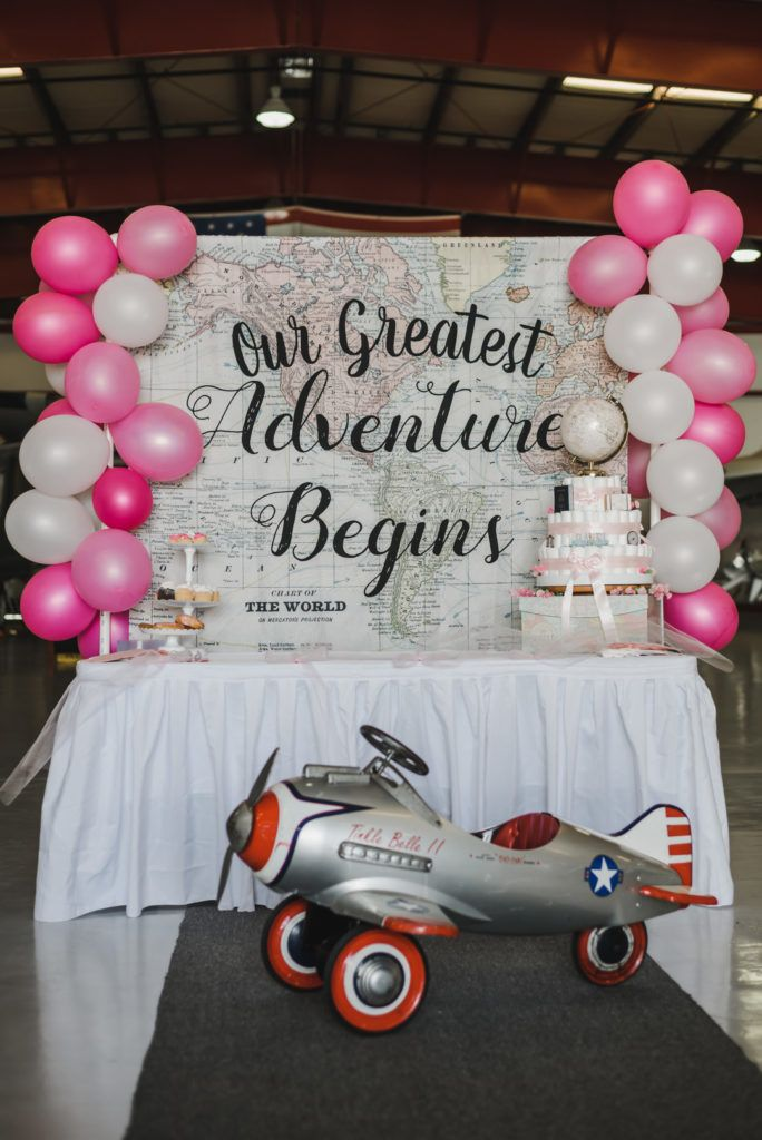 How to Throw a Stunning Travel Themed Baby Shower | Parties365