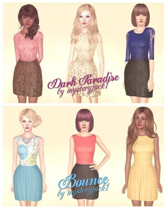 Two Summer Dresses at Mysteryjack1 - Sims 3 Finds | ♡Sims 3 Custom ...