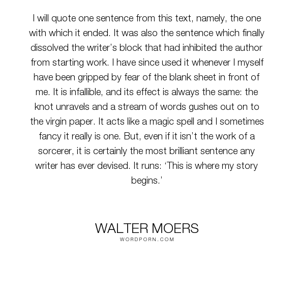 Walter Moers I Will Quote One Sentence From This Text