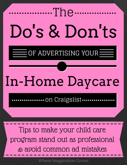 advertising tips for home daycare