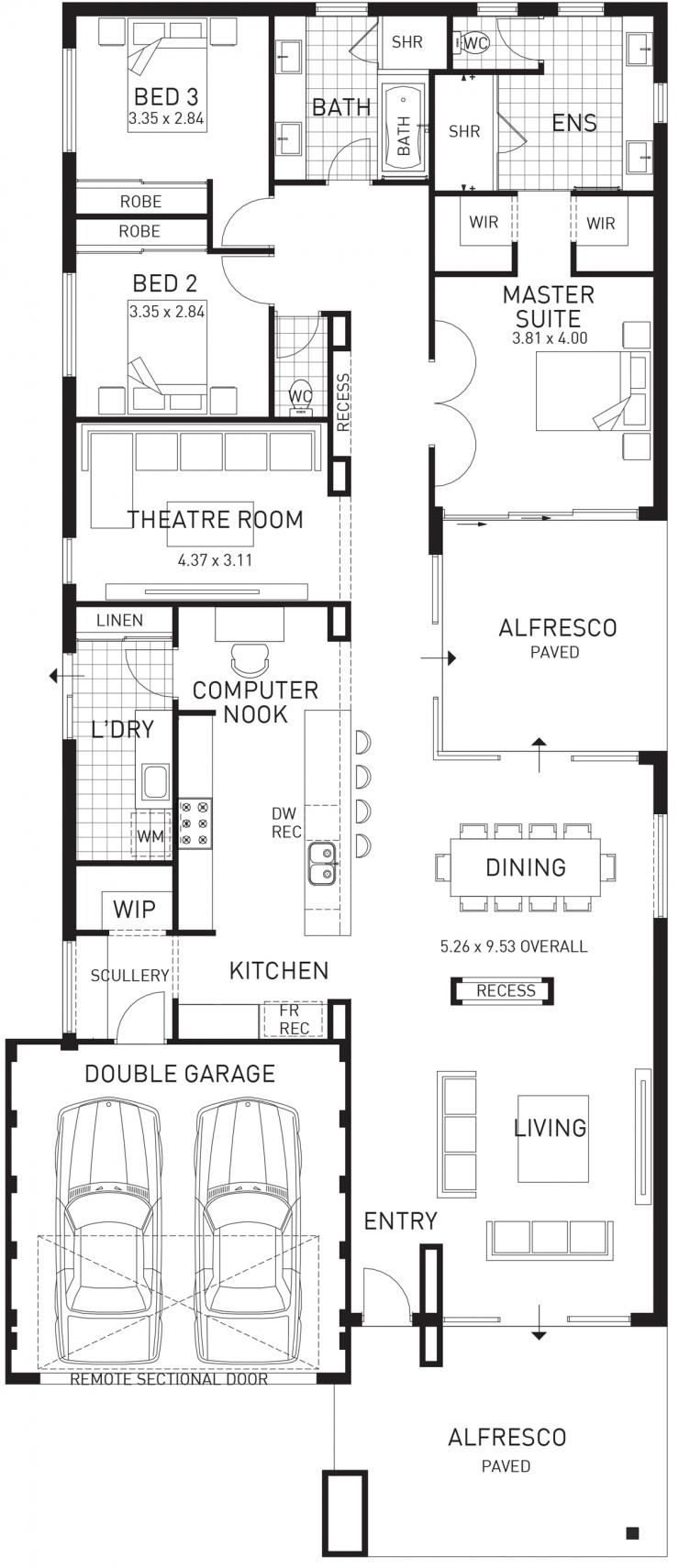 Cottesloe Beach, Single Storey Home Design Display Floor Plan, WA ...