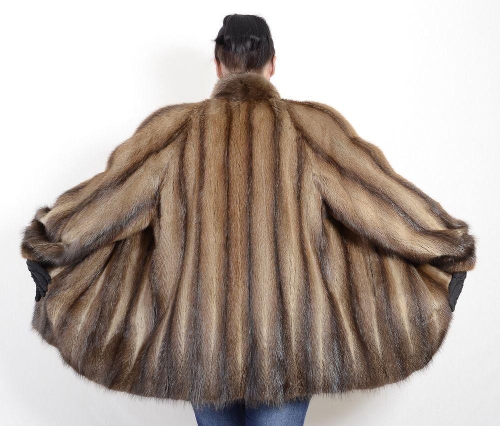 Us1558 Beautiful Softy Muskrat Fur Jacket Musquash Coat Size Xl Class Of Mink Fashion Clothing Shoes Accessories Womensclothing Coat Fur Jacket Jackets [ 851 x 1000 Pixel ]