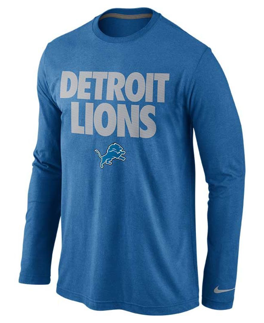 16a19ae5 Nike Men's Long-Sleeve Detroit Lions Foundation T-Shirt | Products ...