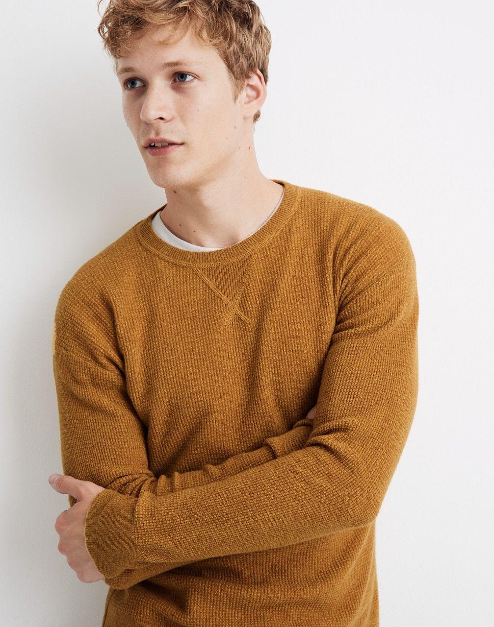 Men S Donegal Cashmere Sweatshirt Denim Jacket Men Mens Outfits Sweatshirts [ 1280 x 1007 Pixel ]