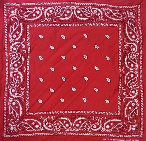 Red Bandana by kizistock Head scarves Pinterest Red