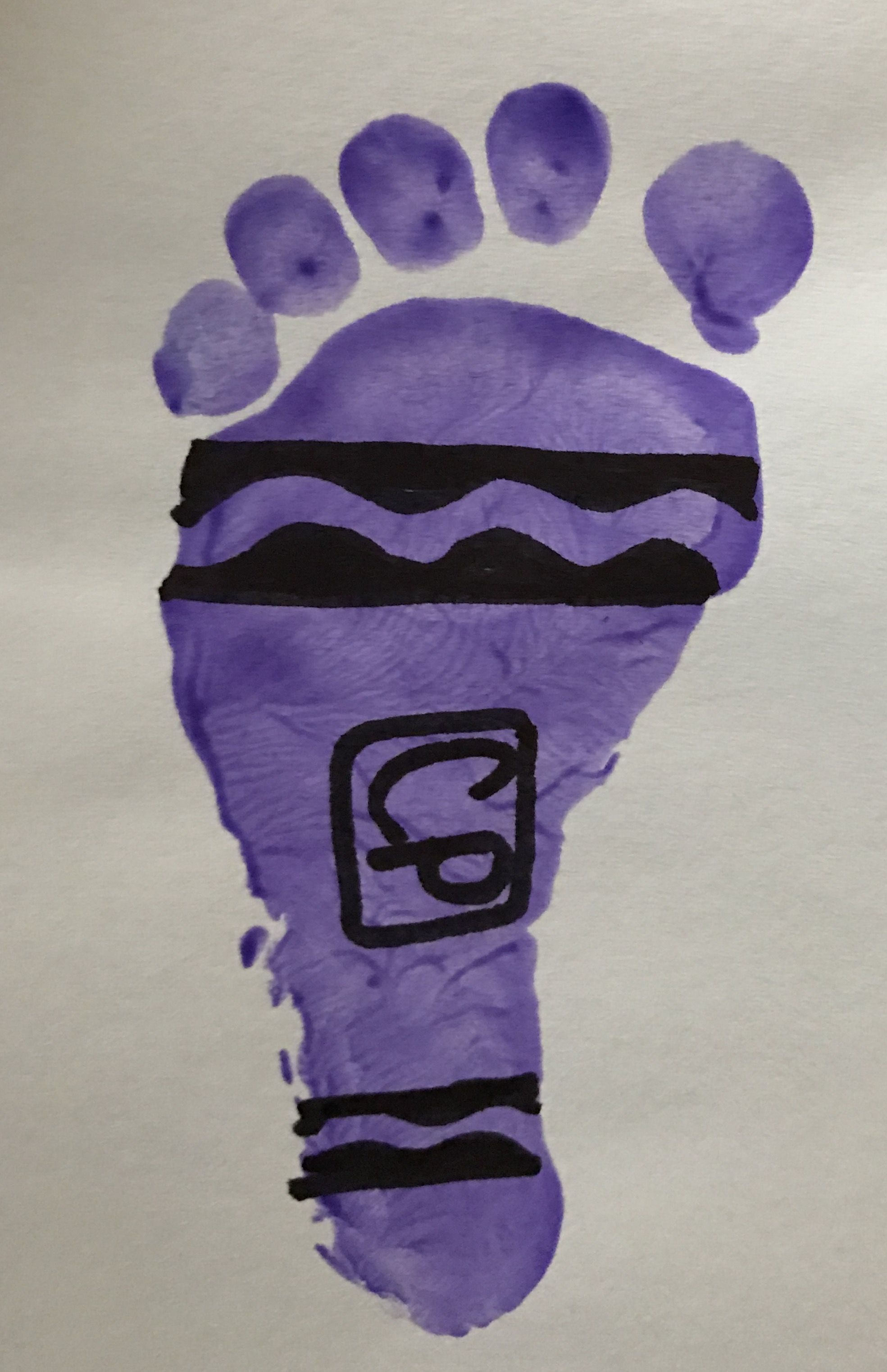 My First Crayon Infant Footprint I Do For My Infant