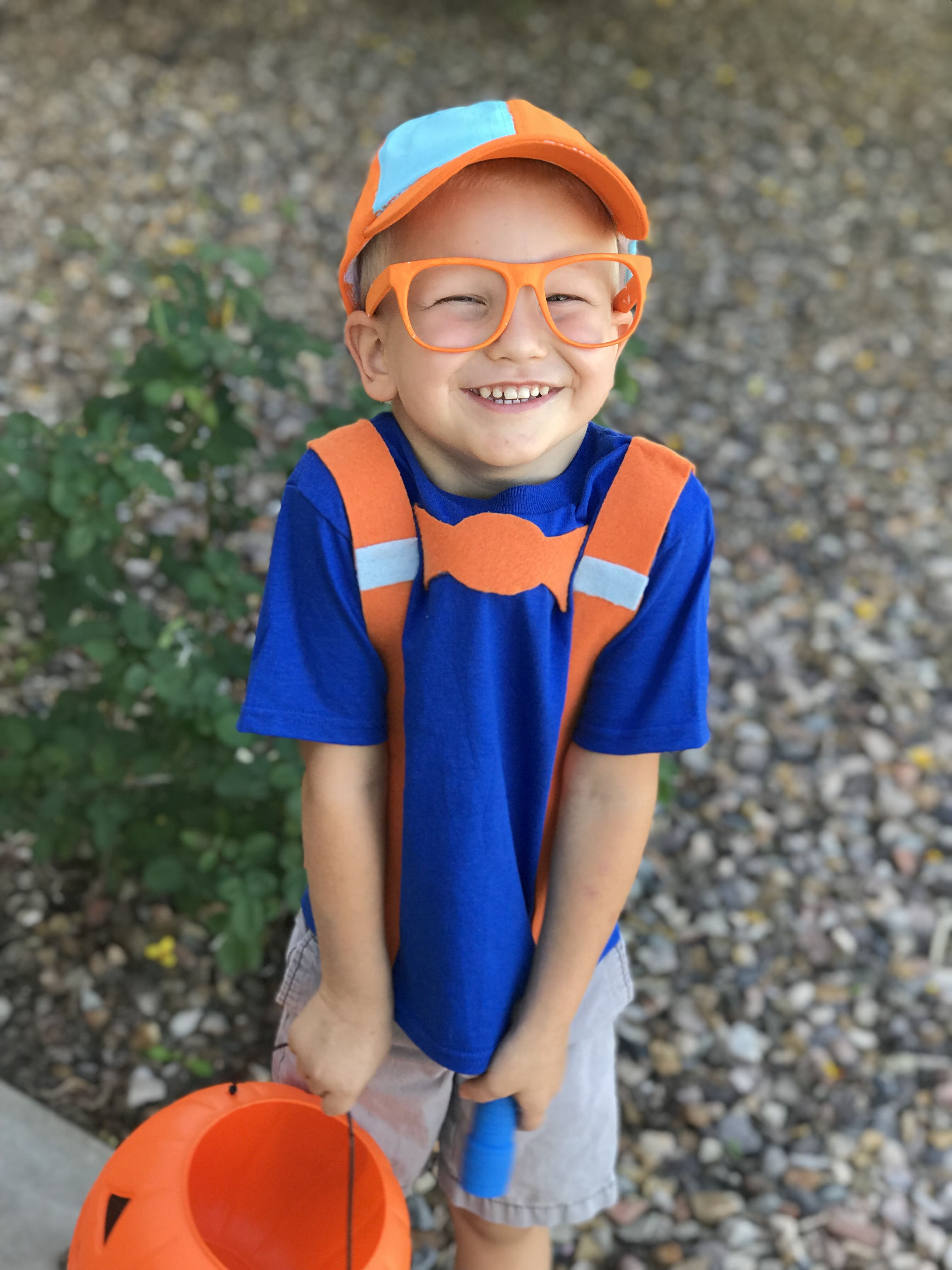 Made Our Own Blippi Costume For Our 3 Year Old This Year