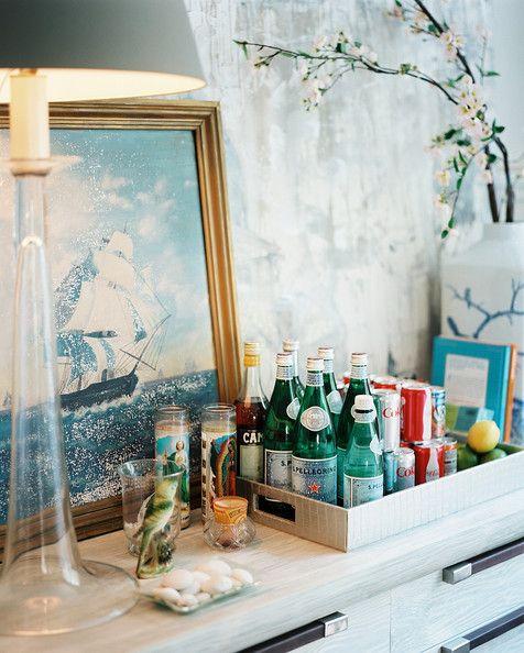 Bar space* Raise the Bar bar cart styling Pinterest - kleine bar furs wohnzimmer