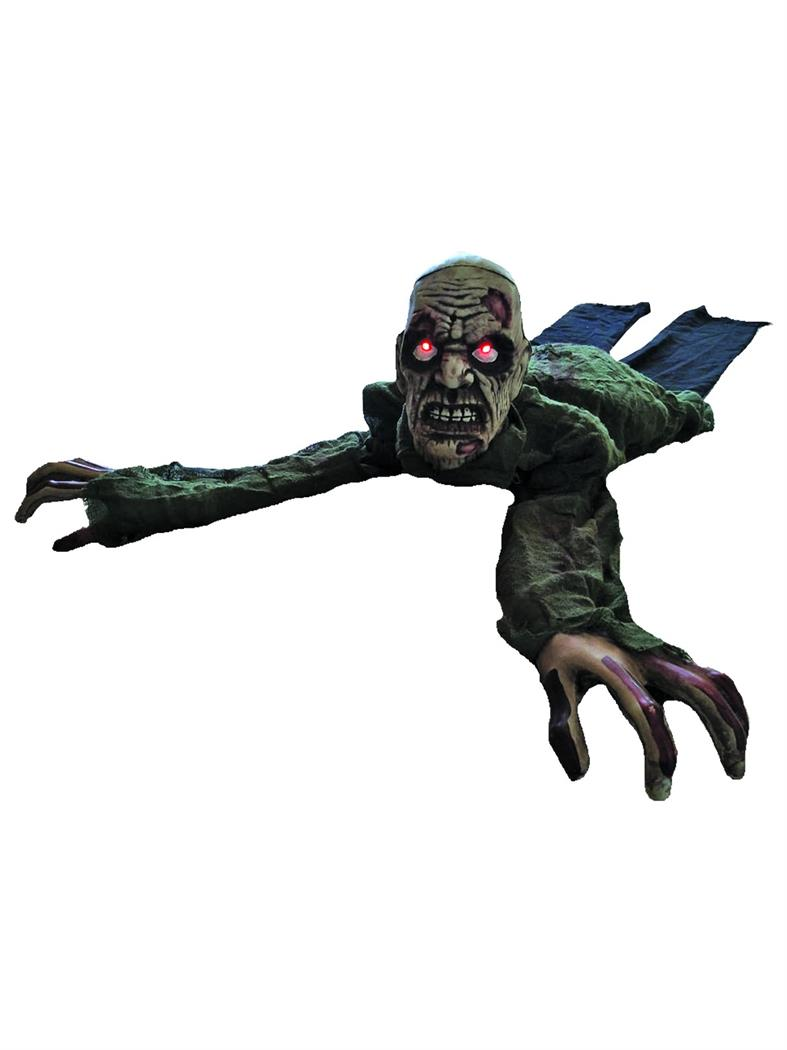 Animated Crawling Zombie With Lights Sound Partybell Com Zombie Halloween Decorations Wholesale Halloween Costumes Kids Zombie Hunter Costume