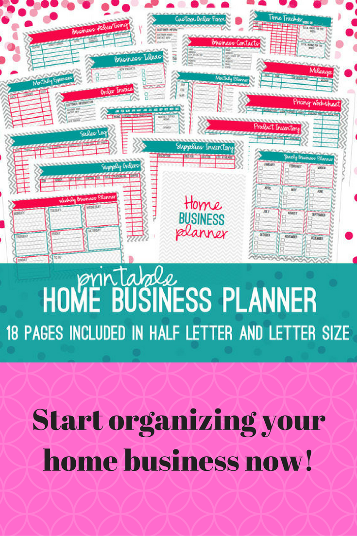 Home Business Planner, Small Business Planner, Half Size + Letter ...