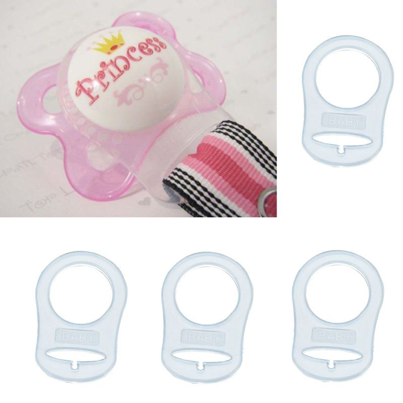MAM Silicone Ring Button Dummy Pacifier Clips Soother Adapter Transparent Holder