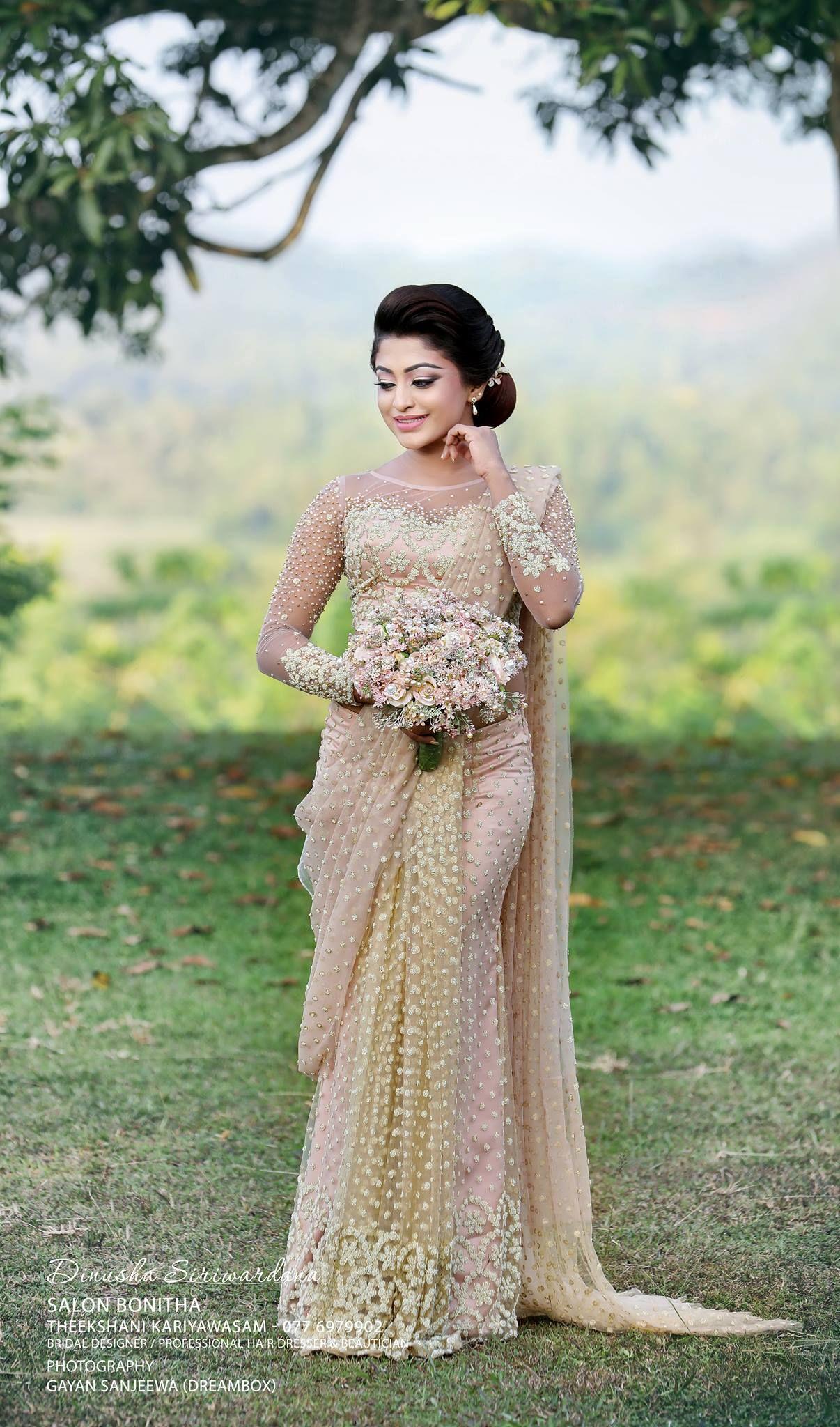 Sri Lankan bride | Saree fashions | Pinterest | Hochzeits-Haare ...