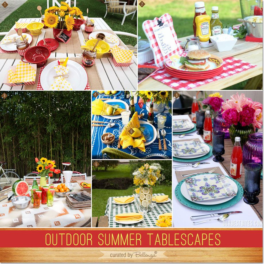 Summer Beach Tablescape And A Summer Tablescape Party: Outdoor Summer Tablescapes For Backyard BBQs And Picnics