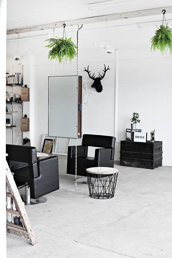 New York Loft Style Hair Salon White Black Loft Style New York Loft Hair Salon