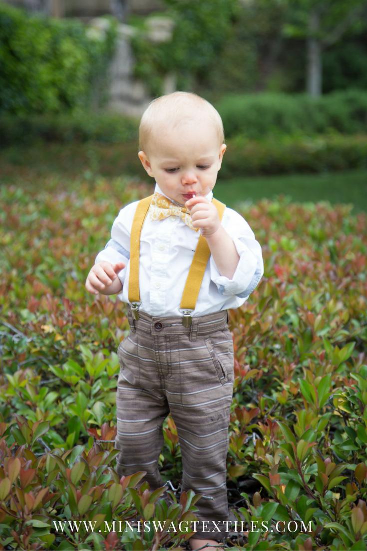 3355dca11 Mustard Baby Bow Tie
