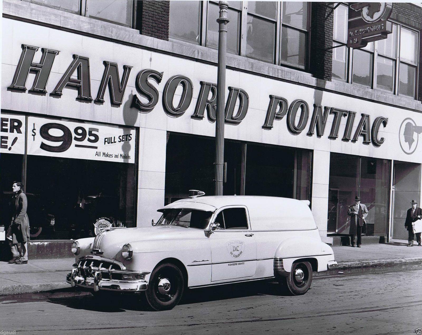 Pontiac Dealership DC 1950s Hansord B&W 8 x 10 Photograph
