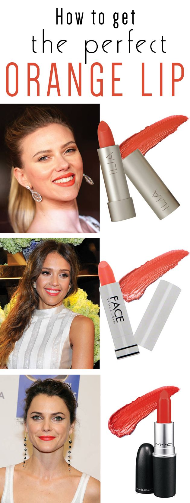 Orange is the new pink!  Tips for choosing the right orange lipstick for your skin tone.  #makeup