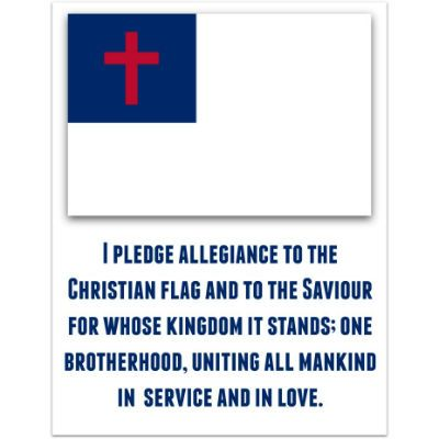 The Christian Flag Is Displayed In Many Churches Across America It Plays A Role In Many Vac Christian Flag Pledge To The Christian Flag Bible Lessons For Kids