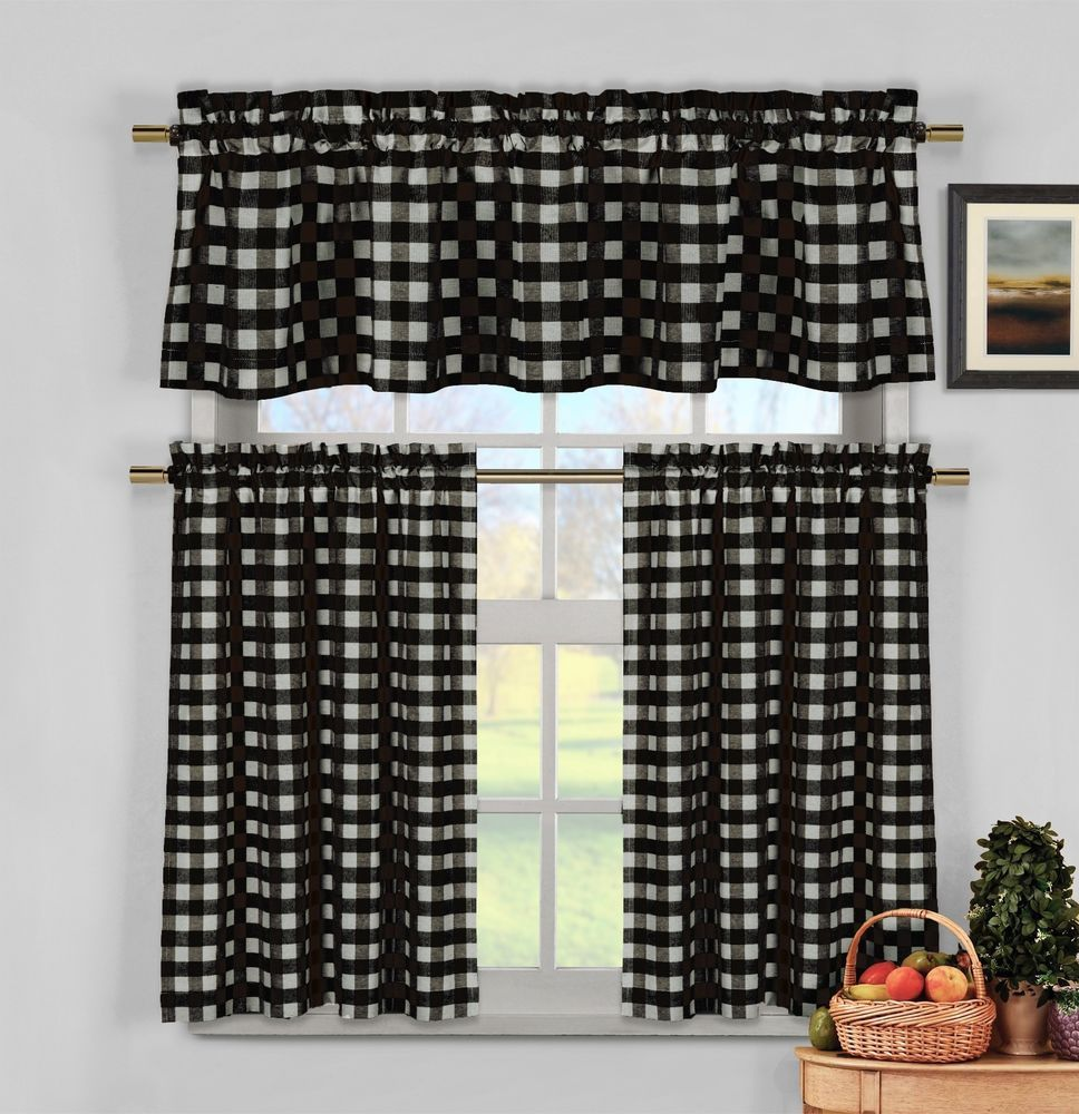 Black And White Gingham Kitchen Curtains - Best Curtains 2017