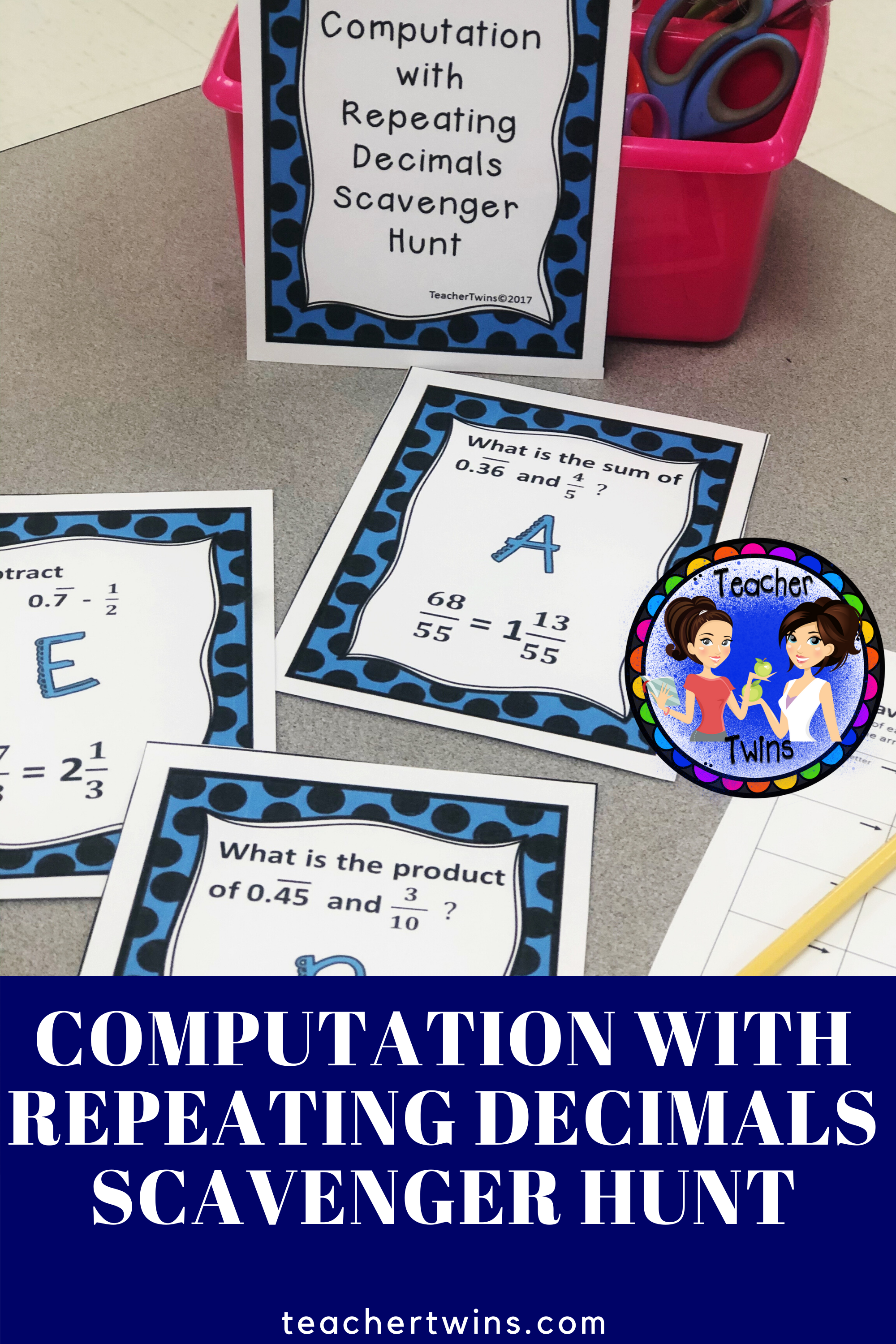 Computation With Repeating Decimals Scavenger Hunt In