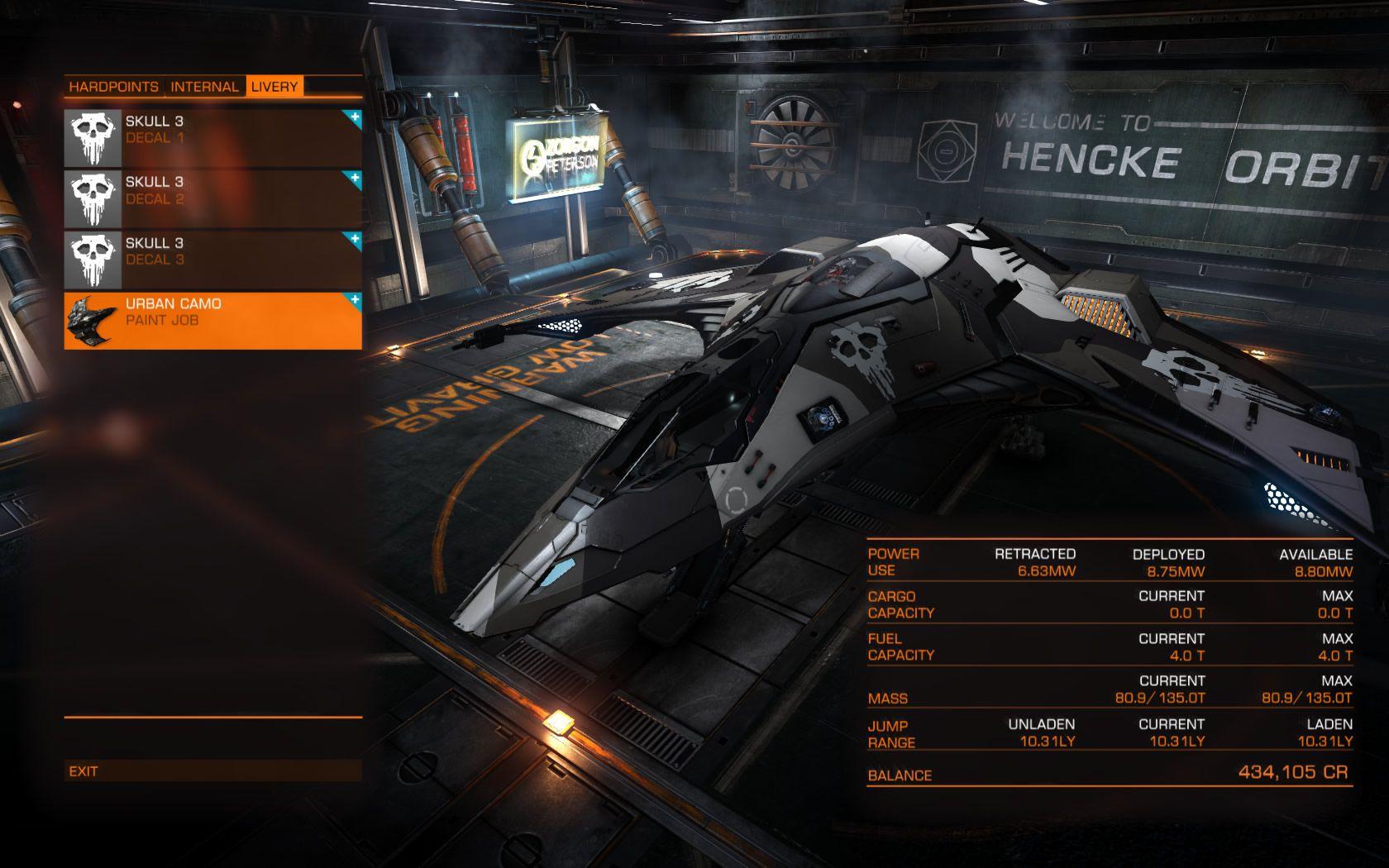 Elite Dangerous Loadout Eagle - Hunter | Spaceship and