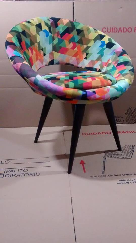 Cadeira Poltrona Para Escritório E Sala,decorativa Em Suede - R$ 249,99 no MercadoLivre