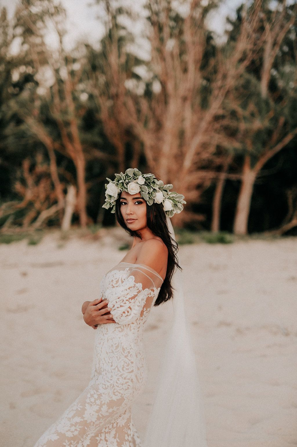 Liz martinez wedding dress  Beach Wedding Gown  Liz Martinez Bridal  Off the Shoulder Wedding