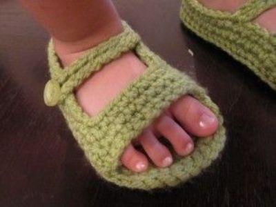 Allfreecrochetpatterns Crochet Baby Sandals Tutorial Knits