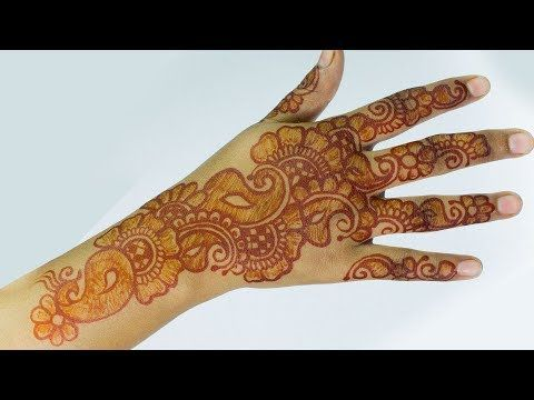 Arabic Mehndi Patterns S : How to apply double shaded arabic mehndi design red