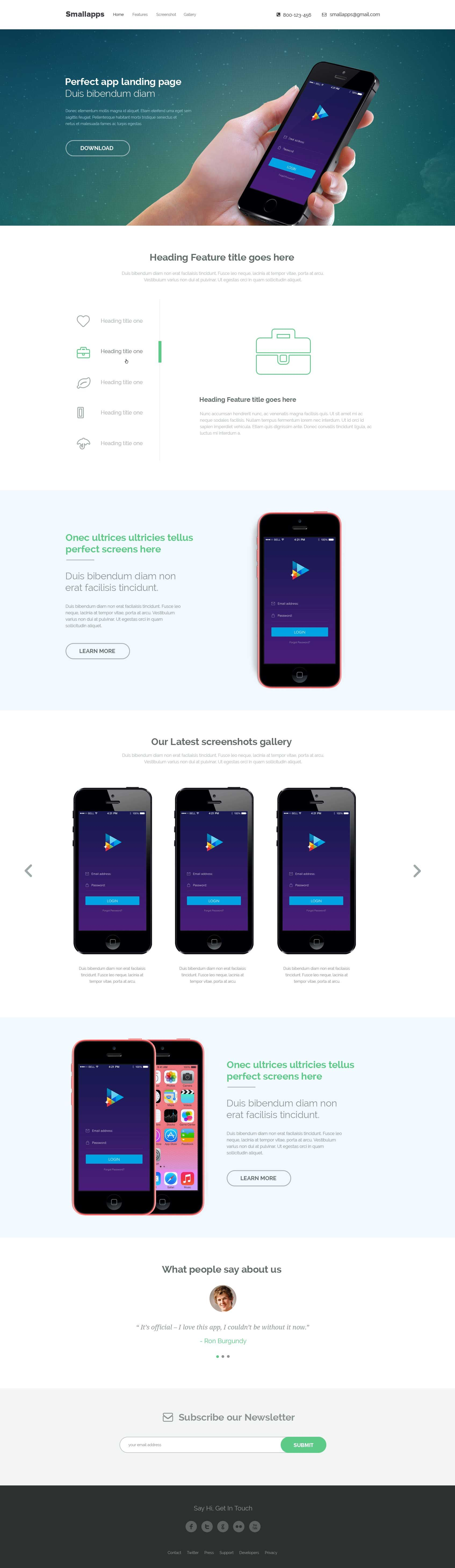 Github Themefisher Small Apps Onepage Html5 App Landing Page Smart App Is A Creative Web Design Mobile Web Design Web Design