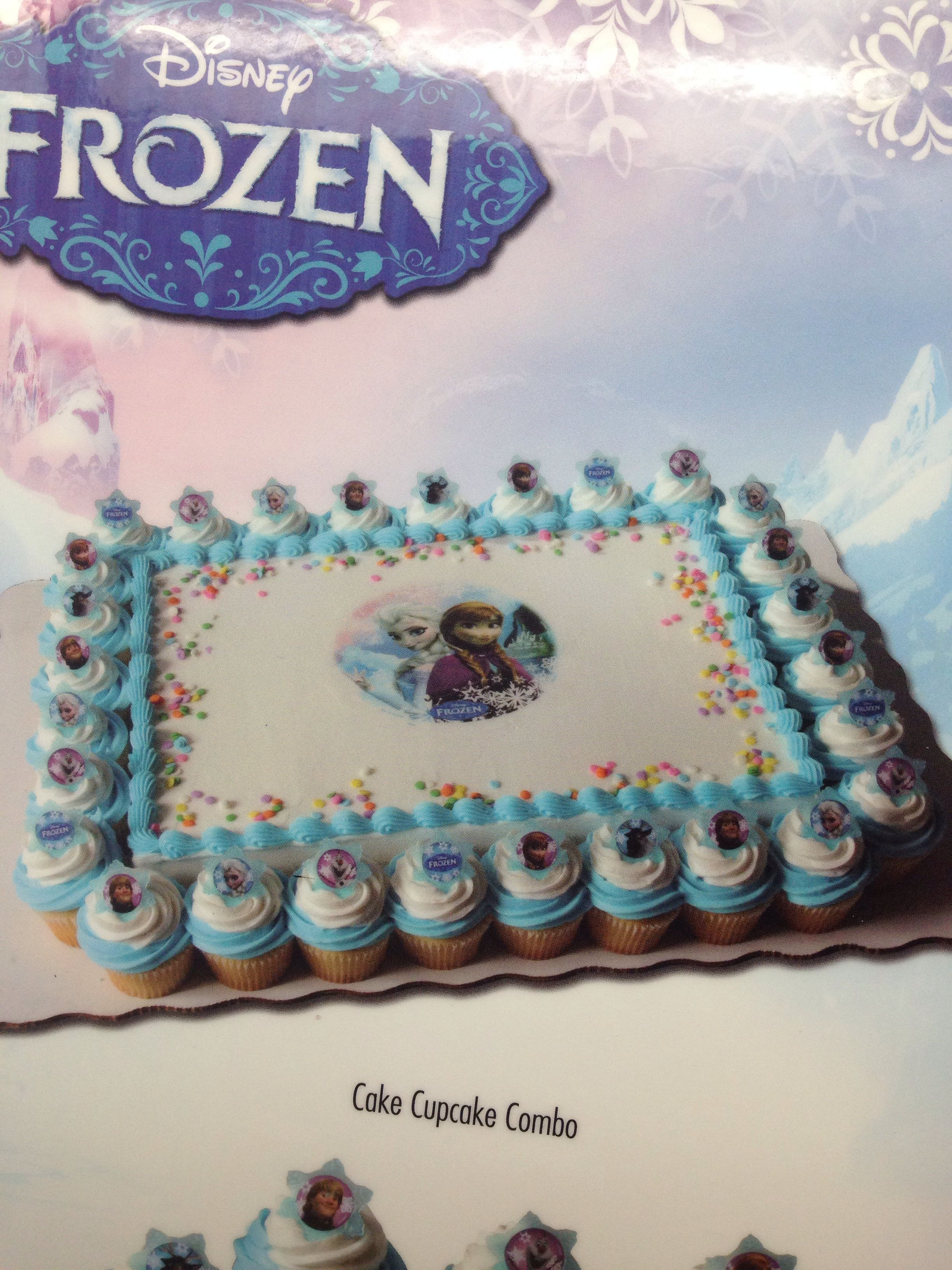 Frozen Sam S Club Birthday Cake Cupcake Combo Frozen