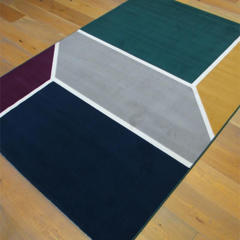 Tapis Contemporain Geometrique Colore Canvas 160x230cm Tapis Contemporain Tapis Tapis Colore