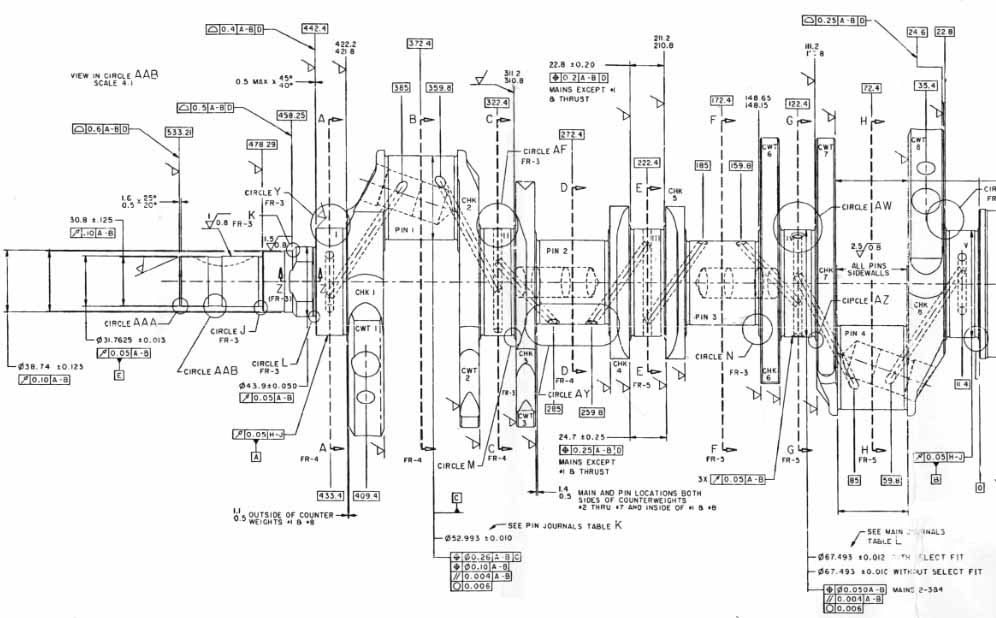 Crankshaft Drawing With Dimensions